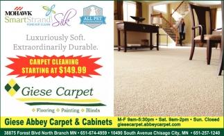 Carpet Cleaning Starting at $149.99