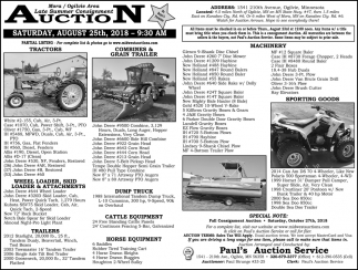 Late Summer Consignment Auction