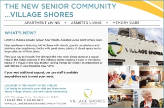The New Senior Community... Village Shores