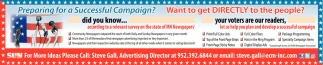 Let us Help Your Plan and Develop a Successful Campaign