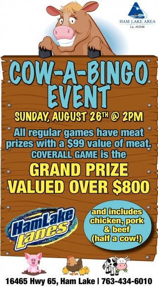 Cow-A-Bingo Event