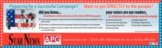 Let us Help You Plan and Develop a Successful Campaign