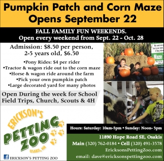 Fall Family Fun Weekends