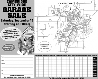 Cambridge City Wide Garage Sale