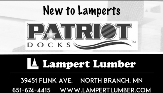 New to Lamperts Patriot Docks