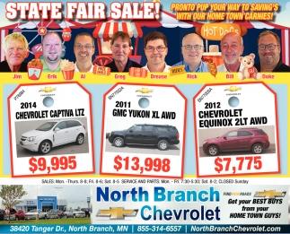 State Fair Sale!