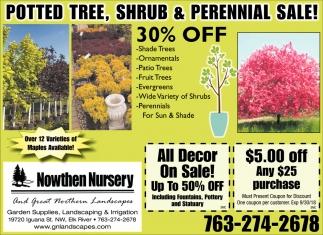 Tree & Shrub Sale!