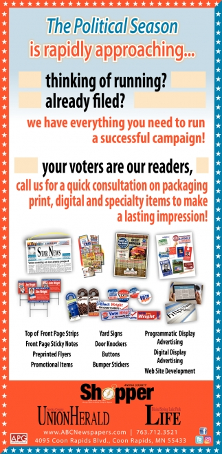 We Have Everything You Need to Run a Successful Campaign!