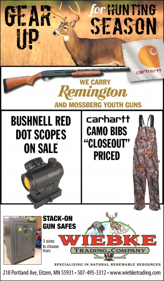 Gear up for Hunting Season