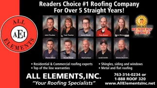 Readers Choice #1 Roofing Company for Over 5 Straight Years!