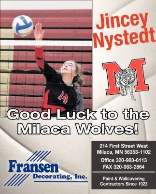 Good Luck to the Milaca Wolves!