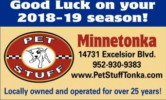 Good Luck on Your 2018-19 Season!