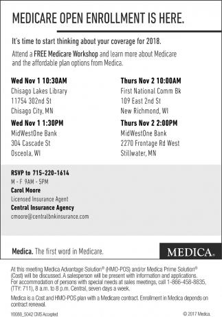 Medicare Open Enrollment Is Here.
