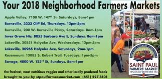 Your 2018 Neighborhood Farmers Market