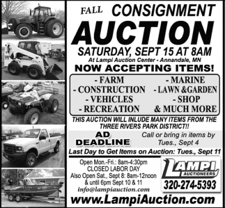 Fall Consignment Auction