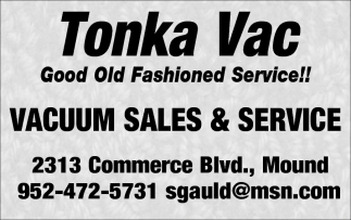 Vacuum Sales and Service