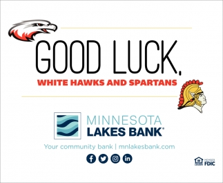 Good Luck, White Hawks and Spartans
