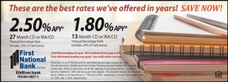 These are the Best Rates We've Offered in Years!