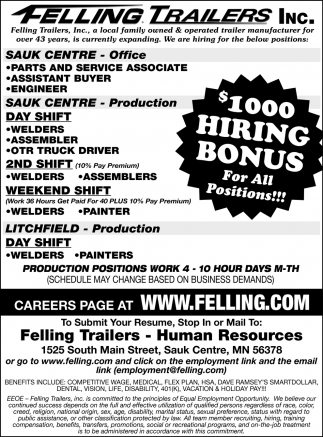 $1000 Hiring Bonus for All Positions!