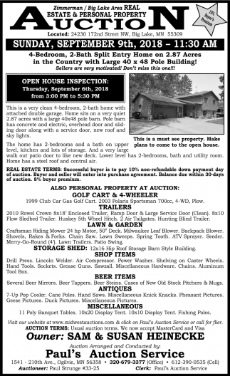 Estate & Personal Property Auction