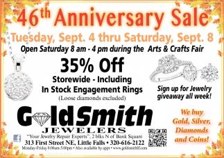 46th Anniversary Sale
