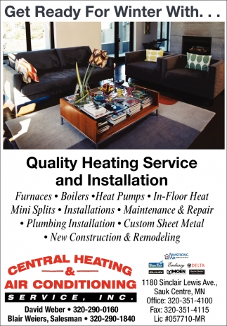 Get Ready for Winter with... Quality Heating Service and Installation