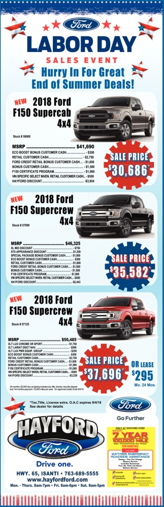Ford Labor Day Sales Event