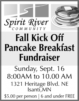 Fall Kick off Pancake Breakfast Fundraiser