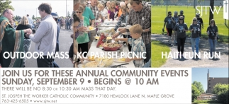 Join Us for these Annual Community Events