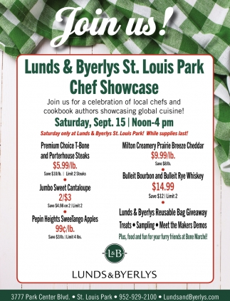 Join Us Lunds And Byerlys Eagan Mn