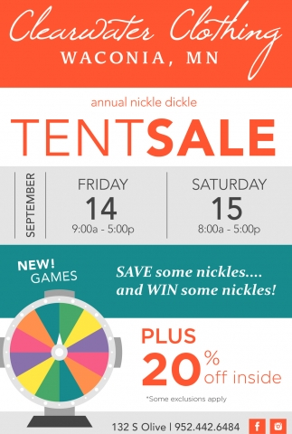 Annual Nickle Dickle Tent Sale