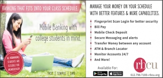 Banking that Fits Into Your Class Schedule