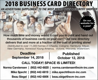 2018 Business Card Directory