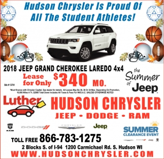 Hudson Chrysler is Proud of All the Student Athletes!