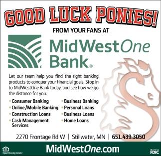 Good Luck Ponies!