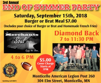 3rd End of Summer Party