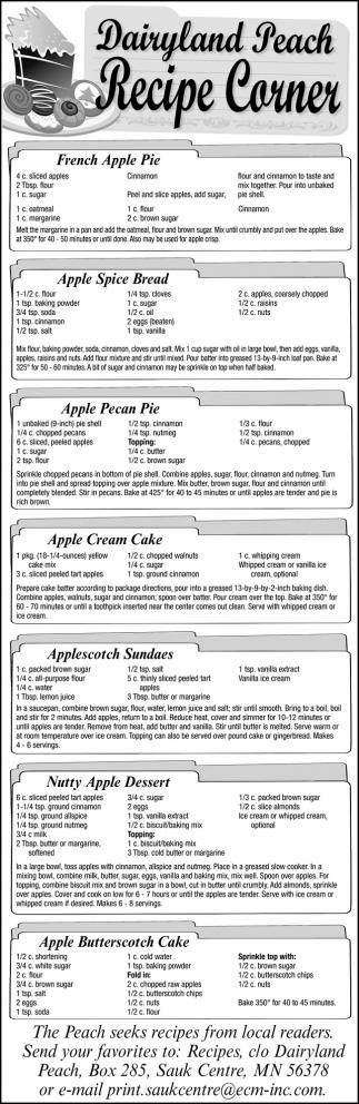 Recipe Corner
