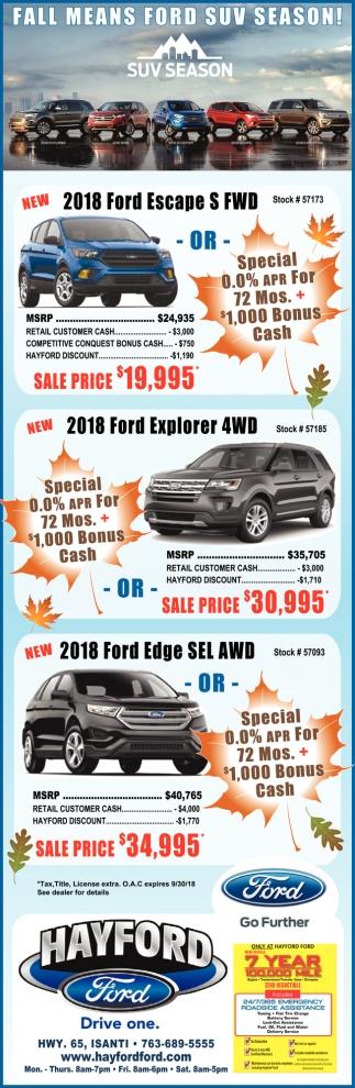 Fall Means Ford Suv Season!