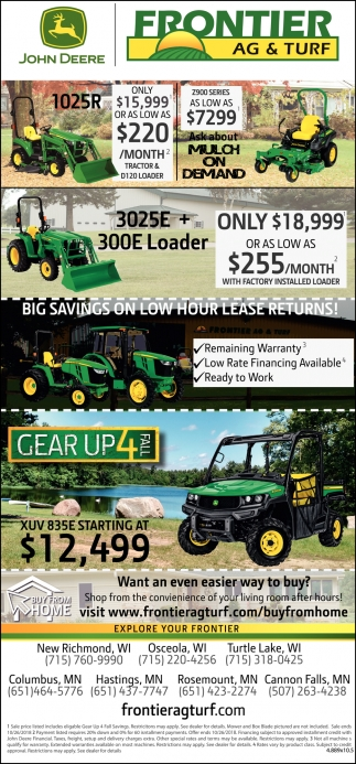 Big Savings on Low Hour Lease Returns!