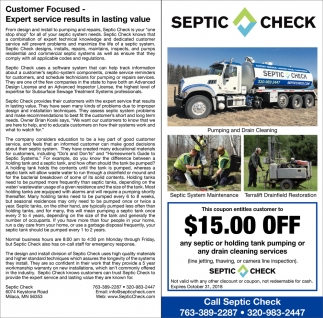 Call Septic Check