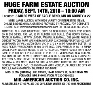 Huge Farm Estate Auction