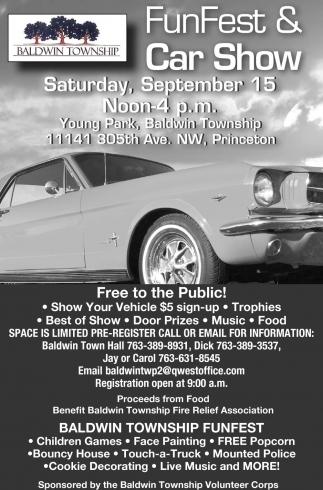 FunFest Car Show Baldwin Township - Car show mn
