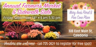 Annual Farmer's Market & Sidewalk Sale