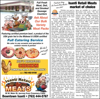 Isanti Retail Meats Market of Choice
