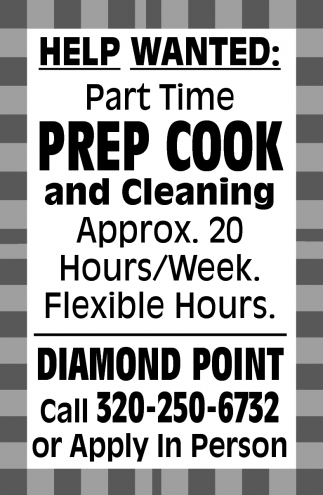 Prep Cook and Cleaning