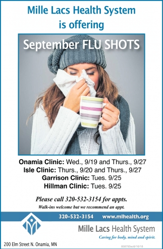 Offering September Flu Shots