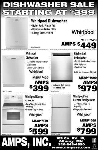 Dishwasher Sale Starting at $399