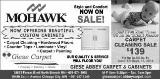 Now Offering Custom Cabinets