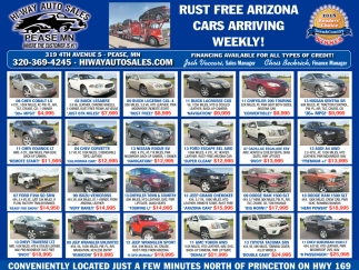 Rust FREE Arizona Cars Arriving Weekly!