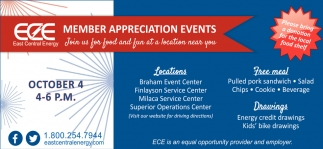 Member Appreciation Events